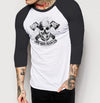 Skull Branded - Mens 3/4 Sleeve Raglan Shirt - Ink and Iron co.