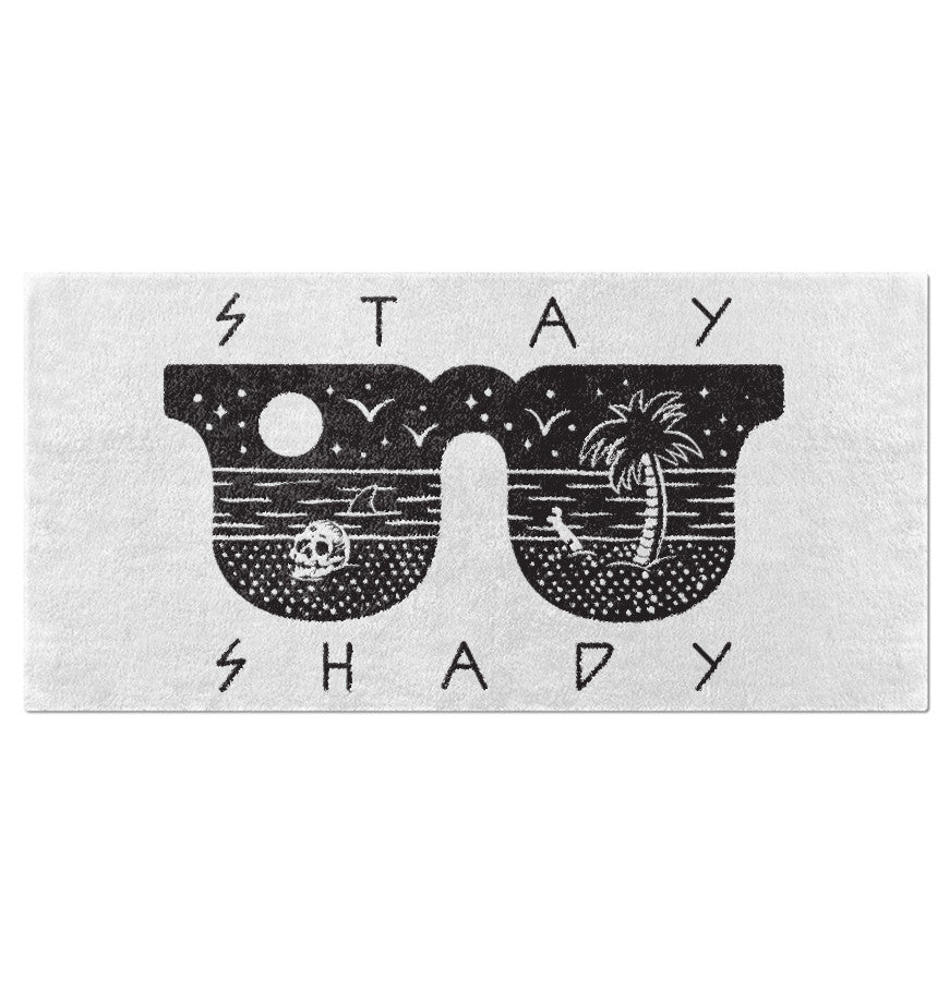 Stay Shady - Oversized Beach Towel - Ink and Iron co.