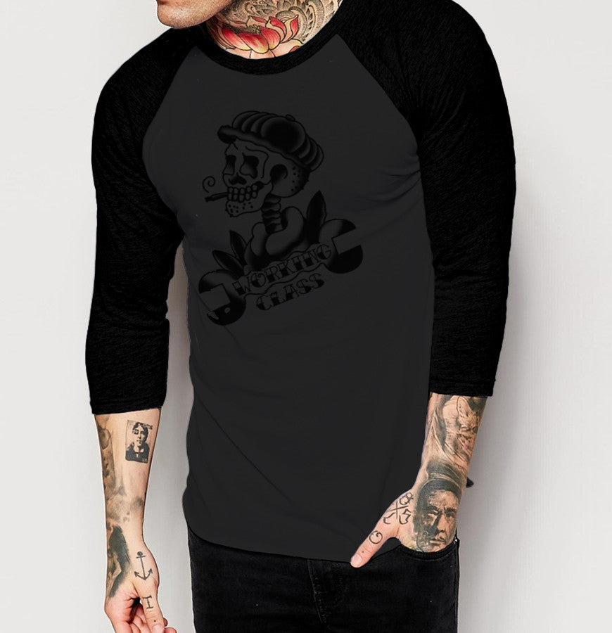 Working Class - Mens 3/4 Sleeve Raglan Shirt - Ink and Iron co.