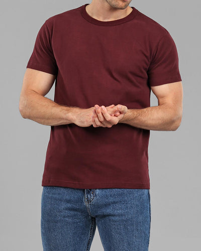 burgundy heavyweight muscle fit t-shirt