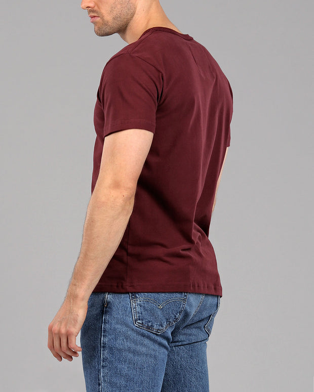 30864a25237ef3 burgundy red muscle fitted basics heavyweight suede cotton t-shirt