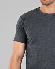 dark grey heavyweight muscle fit t-shirt