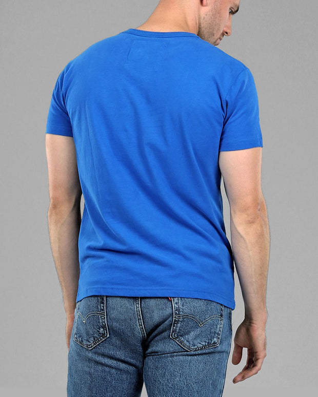 sky light blue Muscle Fit basics fitted Plain basic T-Shirt