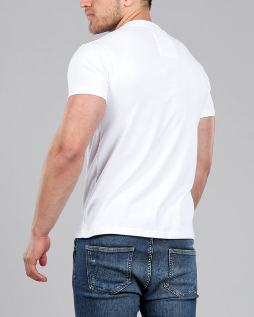 9c341798 Men's White V-Neck Fitted Plain T-Shirt | Muscle Fit Basics