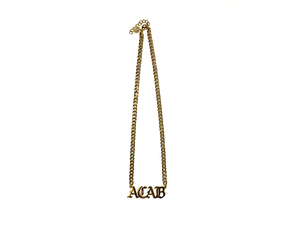 "Gold ""ACAB"" Nameplate Necklace - Series 3"