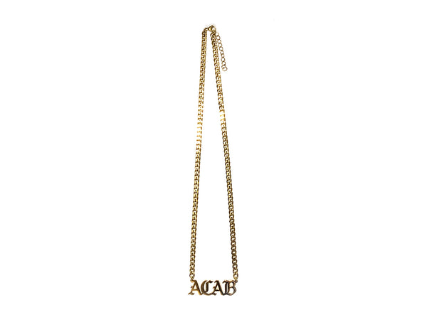 "Image of gold ACAB necklace with 20"" chain"