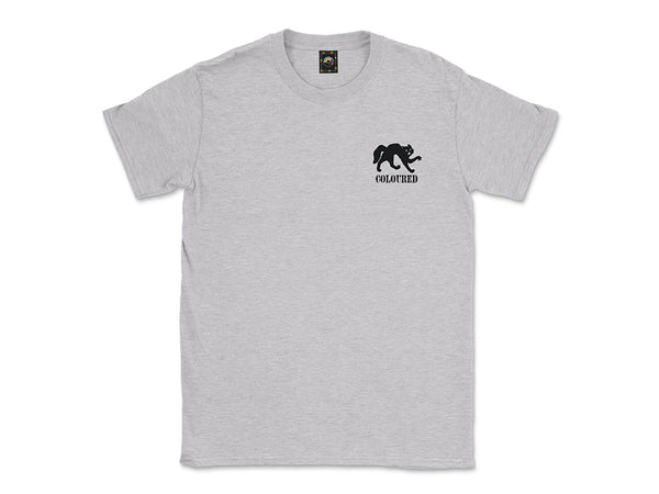 Image of heather gray Cat tee