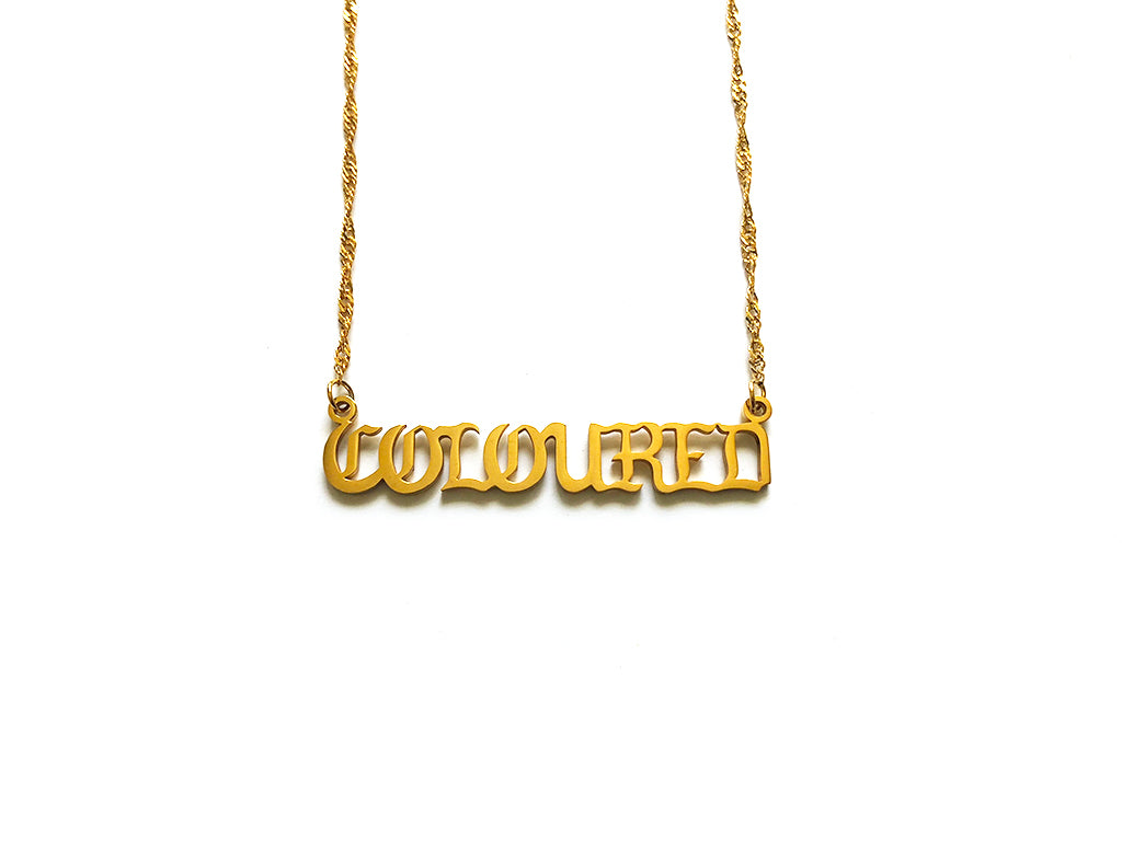 "Gold ""COLOURED"" Nameplate Necklace"