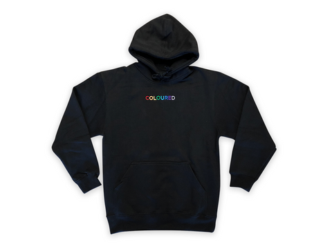 """Coloured"" Embroidered Hoodie"