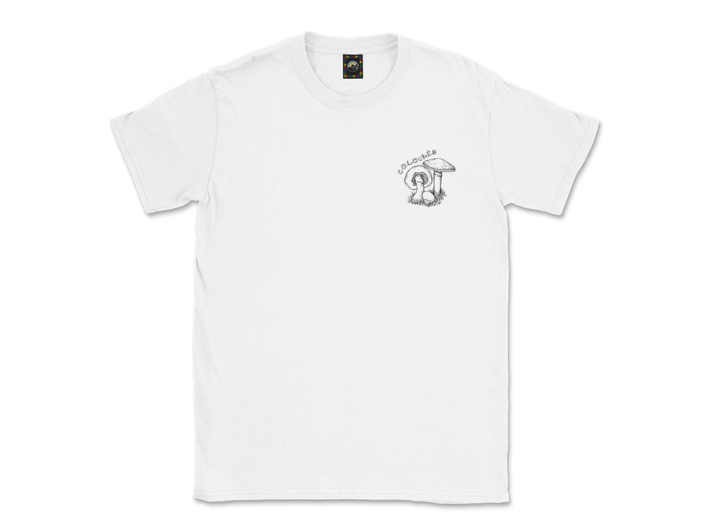 Image of white Mushrooms tee