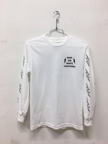 ride_the_white_lightning_longsleeves_white_front
