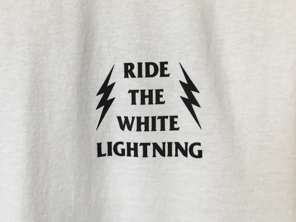 ride_the_white_lightning_tee_white_front_detail