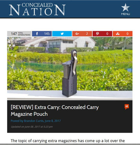 Concealed Nation - ExtraCarry Mag Pouch Review - Glock 26
