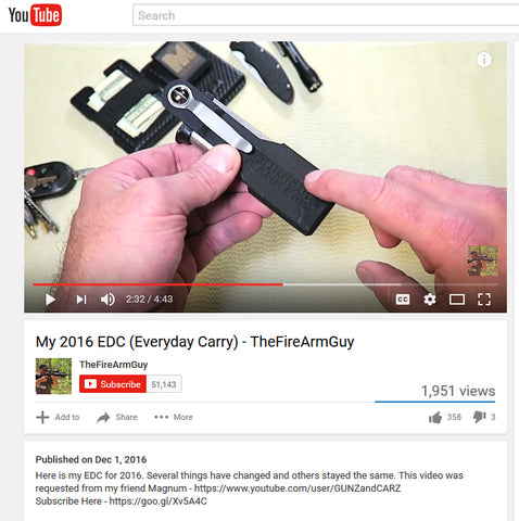 TheFireArmsGuy - Youtube - selects ExtraCarry Mag Pouch for his Kahr Arms CM9