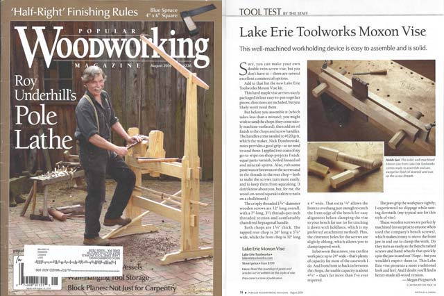 Lake Erie Toolworks; Moxon Vise; Wood Vise