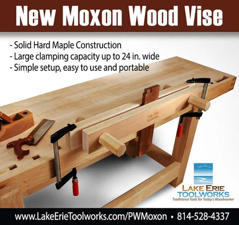 Lake Erie Toolworks Moxon Vise Popular Woodworking Ad