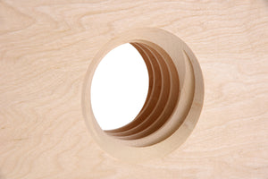 2X Wood Nut Hole Detail