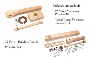 2X Bench Builders Bundle Wood Vise Screw Kit