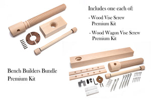 Bench Builders Bundle Wood Vise Screw Kit