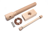 -	Lake Erie Toolworks - Premium Leg Vise Kit with hard maple screw, nut, handle & brass garter
