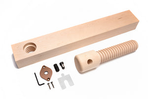 Lake Erie Toolworks - Basic Shoulder Vise Kit with hard maple screw, nut and brass connector