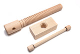 Lake Erie Toolworks - Standard Leg Vise Kit with hard maple screw, nut & handle