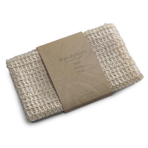 baudelaire natural sisal wash cloth