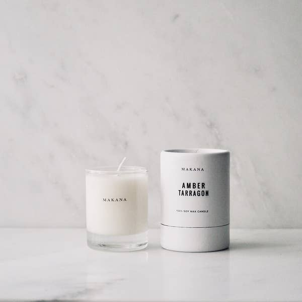 makana candles - amber tarragon