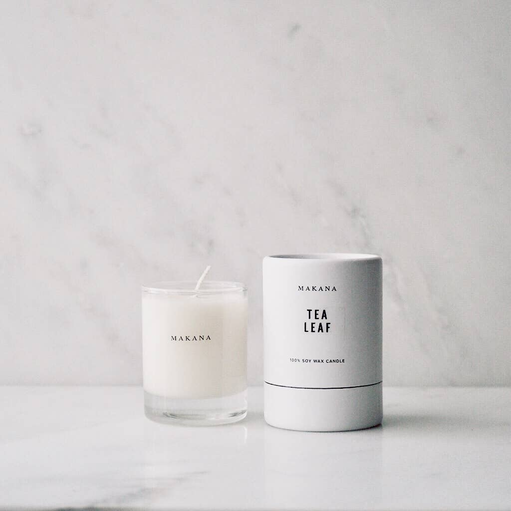 makana candles - tea leaf