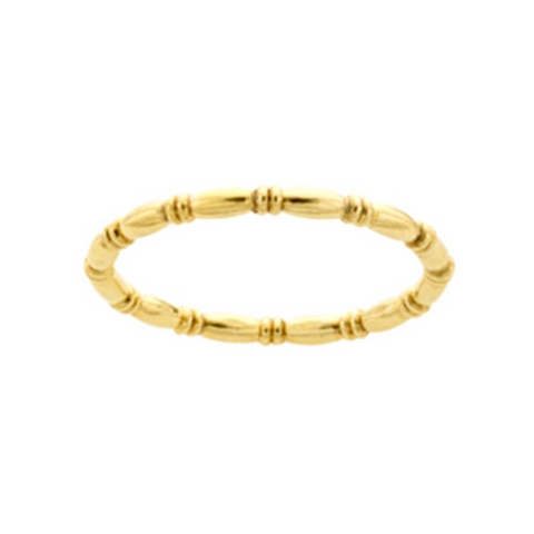 gold fill beaded bamboo stacking ring