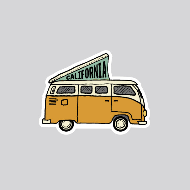 VW bus california sticker