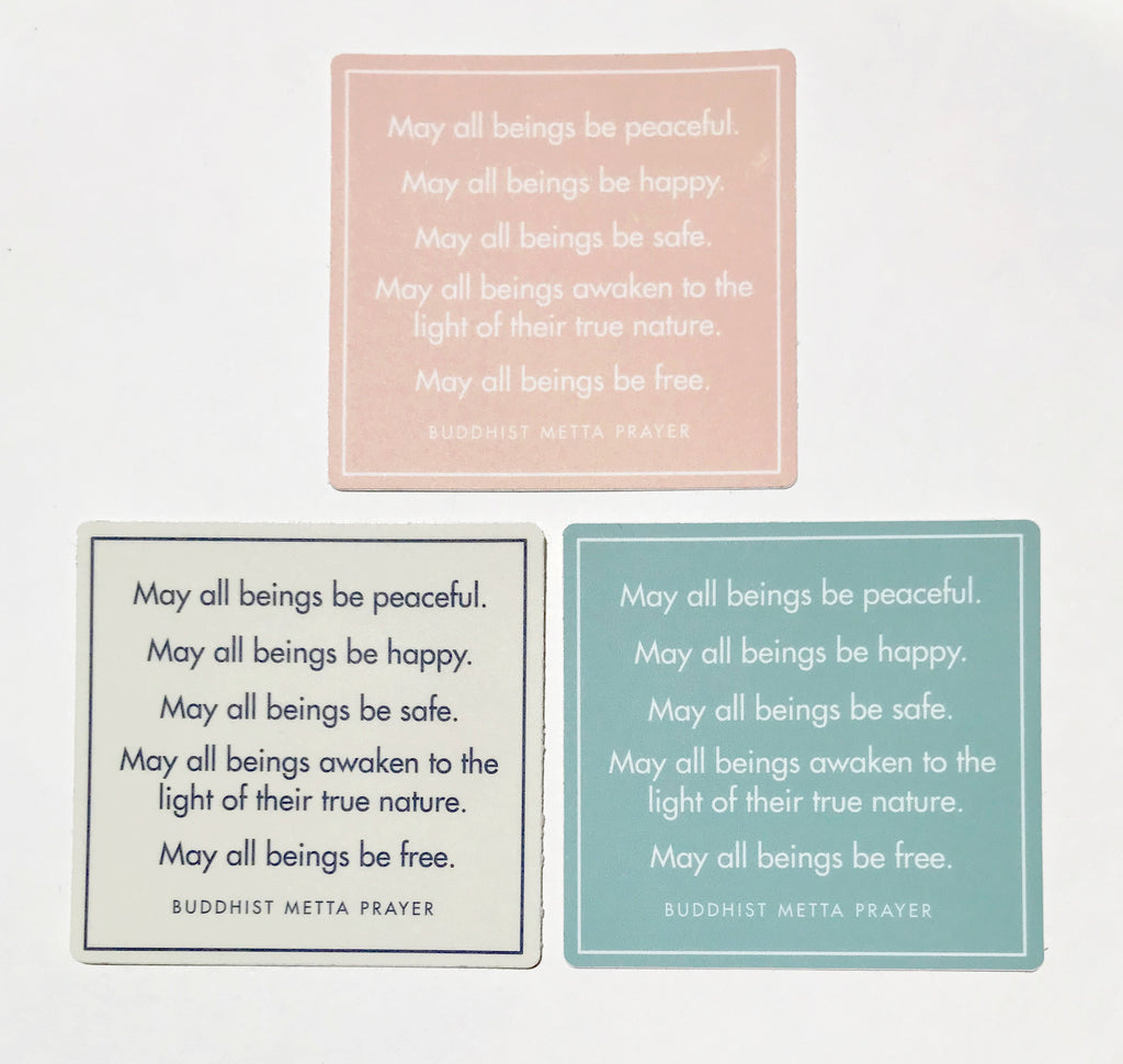 Buddhist metta prayers stickers