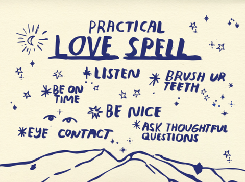 practical love spell card