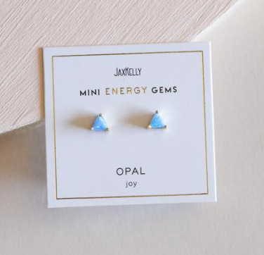 jaxkelly - mini energy gem studs