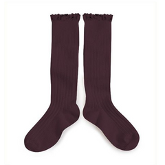 collegien lace trim socks - knee high
