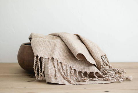 oversized woven hand towels