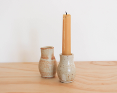 ceramic bottle candleholder