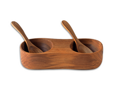 teak salt & pepper cellar