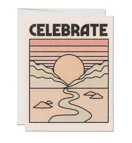 celebrate sunset card