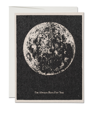 here for you moon card