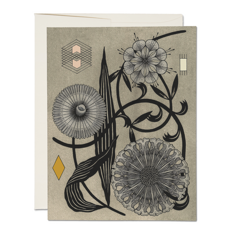 floral geometry card