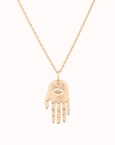 dharma's hand necklace