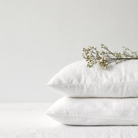 stone washed linen pillow case
