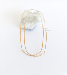 shaped gold hoops - oblong