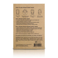 Orgaid Anti-Aging Moisturizing Organic Face Mask Single - back of packaging