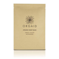 orgaid greek yogurt and nourishing organic face mask single