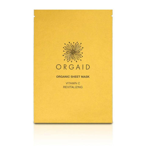 orgaid vitamin c & revitalizing organic face mask single