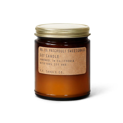 pf candle co no. 19 / patchouli sweetgrass candle