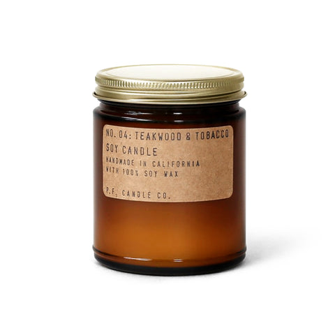 pf candle co no. 4 / teakwood & tobacco candle