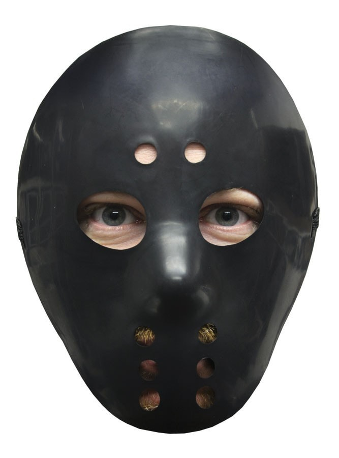 Morris Hockey Mask Black - MaxWigs